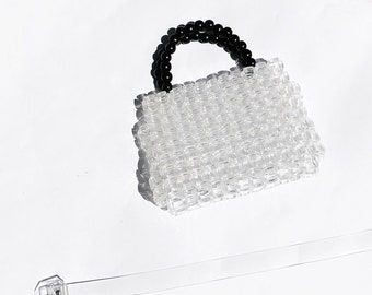 07554dddbea1 Clear Lucite Beaded Mini Bag (Ready to Ship)