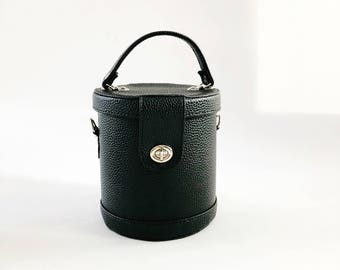 Cylinder Bucket Box Crossbody Bag (Handmade to Order)