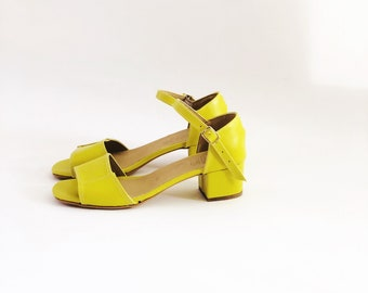 Mary Low Block Heel Sandals (Handmade to order)