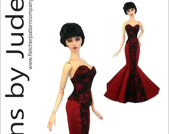 """Prom Date Doll Clothes Sewing Pattern 12/"""" House of Zenith Superdoll"""