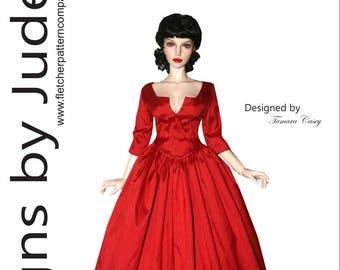 Outlander Claire Dress Pattern for 65cm Iplehouse 1/3 EID dolls