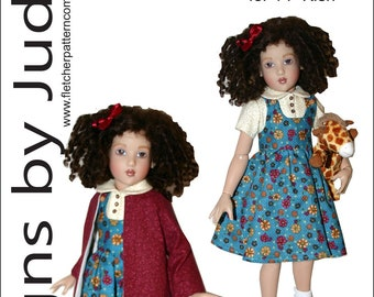 So Cute Overall /& Skirtall Doll Clothes Sewing Pattern Ellowyne Wilde Dolls