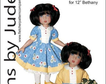 "Autumn Stroll Doll Clothes Sewing Pattern for 12/"" Bethany Kish"
