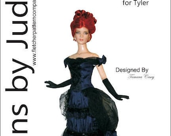 """Victorian Stroll Doll Clothes Sewing Pattern for 16/"""" Tyler Dolls Tonner"""