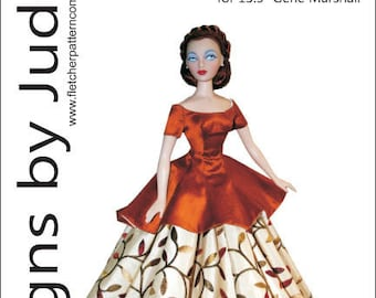 Evening Sophisticate sewing pattern for the Gene Marshall doll by Ashton Drake