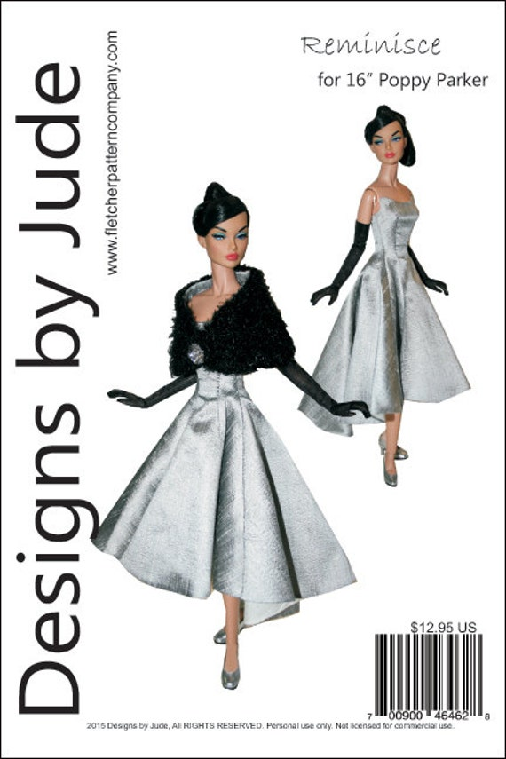 """On Trend Doll Clothes SewingPattern 16/"""" Poppy Parker Dolls Integrity"""