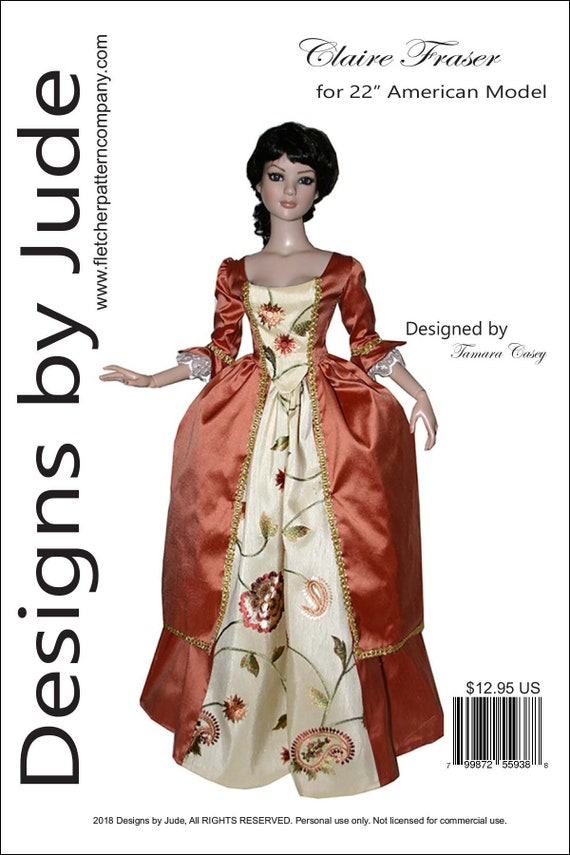 """Opera Doll Clothes Sewing Pattern 16.5/"""" RTB101 Body Claire /& Ellowyne Tonner"""