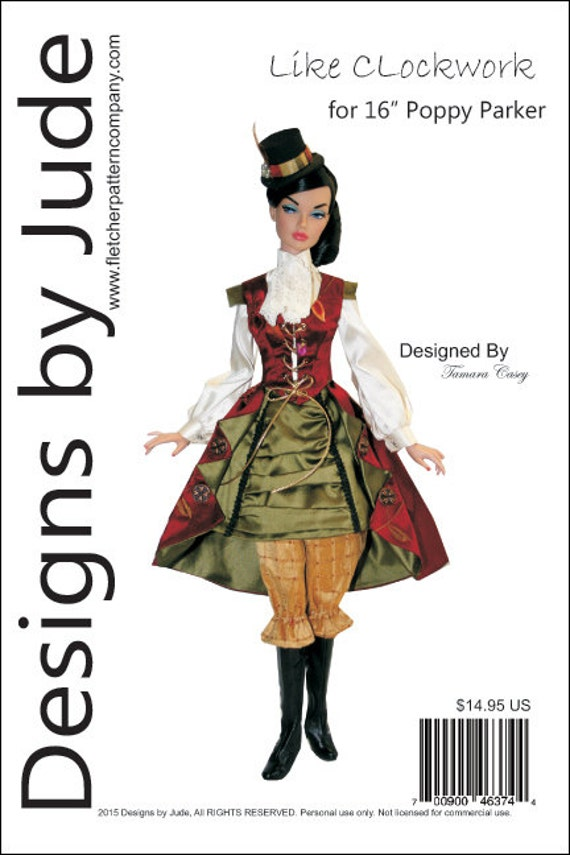 "Victorian Stroll Doll Clothes Sewing Pattern for 16/"" Poppy Dolls Integrity"