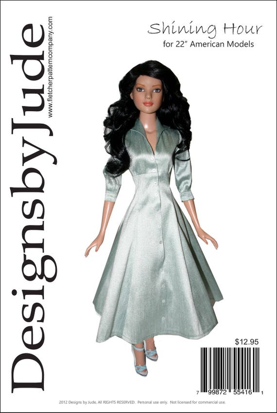 So Chic Doll Clothes Sewing Pattern American Model Tonner