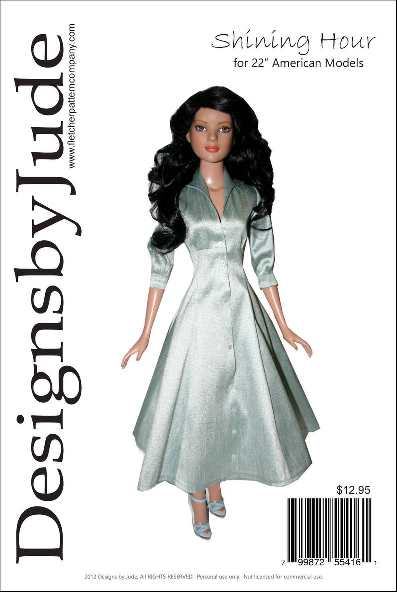 """Modern Style sewing pattern for the 18/"""" Kitty Collier doll by Tonner"""