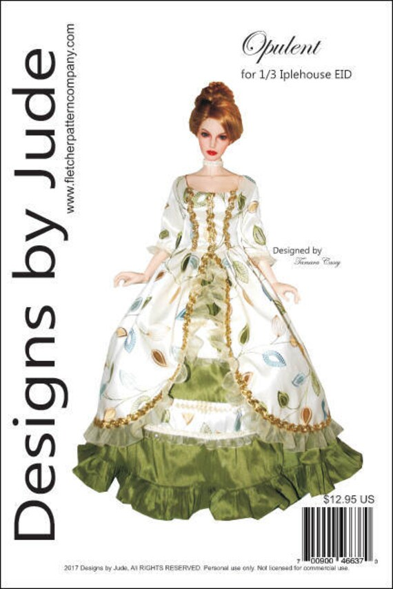 Haute Holiday Doll Clothes Sewing Pattern for Matt Tonner