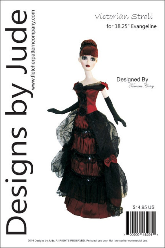 """Lingerie /& Robe Doll Clothes Sewing Pattern for 18.25/"""" Evangeline Ghastly"""