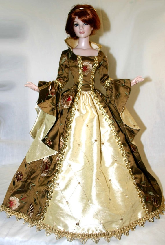 """Enchanted Gown Doll Clothes Sewing Pattern for 16/"""" Ellowyne Wilde Dolls Tonner"""