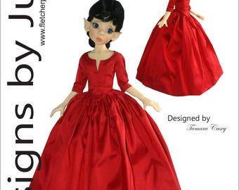 PDF Outlander Claire Dress Pattern for 46cm Kaye Wiggs MSD BJD Dolls