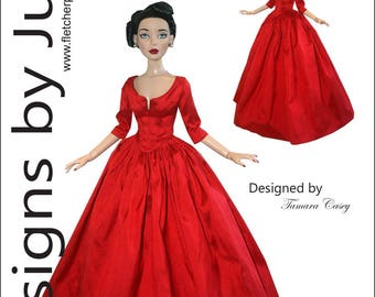 """PDF Outlander Claire Dress Pattern for 16"""" Chic Body Dolls Tonner"""