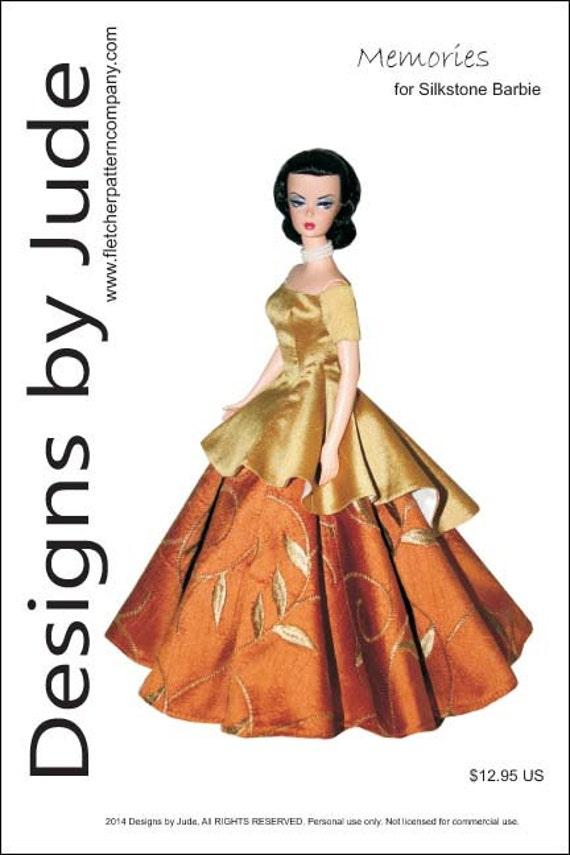 Opera Skirt /& Bustier Pattern for Silkstone Barbie