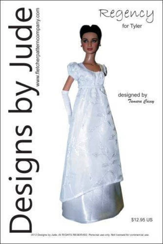 """Princess Doll Clothes Sewing Pattern for 16/"""" Tyler Dolls Tonner"""