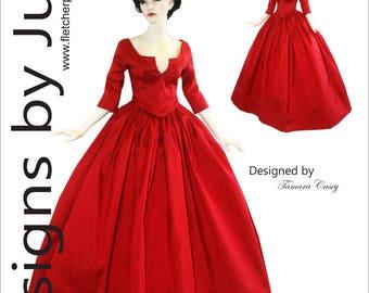 PDF Outlander Claire Dress Pattern for 45.5cm Iplehouse FID dolls
