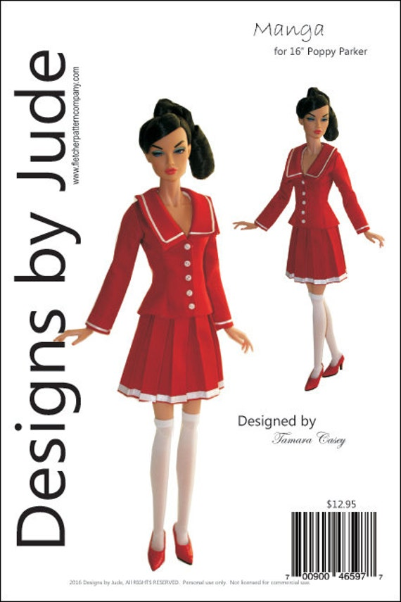 """Summer Doll Clothes Sewing Pattern 16/"""" Poppy Parker Dolls Integrity"""