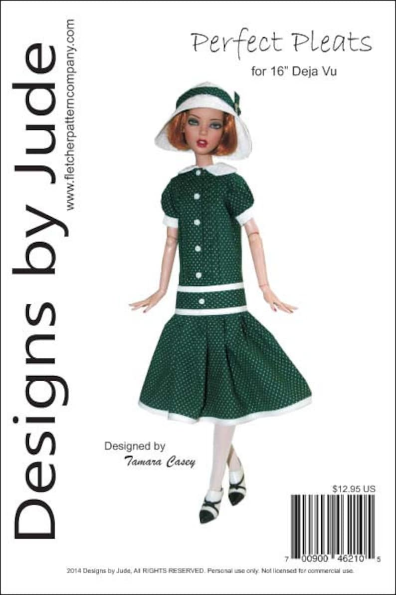 """Pirate Maiden Doll Clothes Sewing Pattern for 16/"""" Deja Vu Dolls Tonner"""