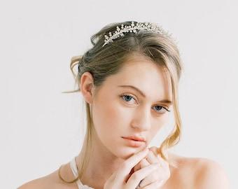 Delicate Blossoms Tiara Style Crown- Bridal, Hair Accessories, Flower Crown, Hair piece, tiara, wedding tiara, bridal flower crown, headband