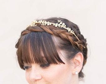 IRIS Flower Tiara- Bridal Hair Accessories, Bridal Hair Piece, Wedding Hair Piece, bridal headband, boho wedding, flower crown, bridal crown