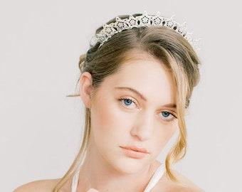 Starry Night Crown - Silver Headband, Halo, Celestial, Bridal Head Piece, Hair Accessories, Art deco Silver Star tiara, rose gold, gold star