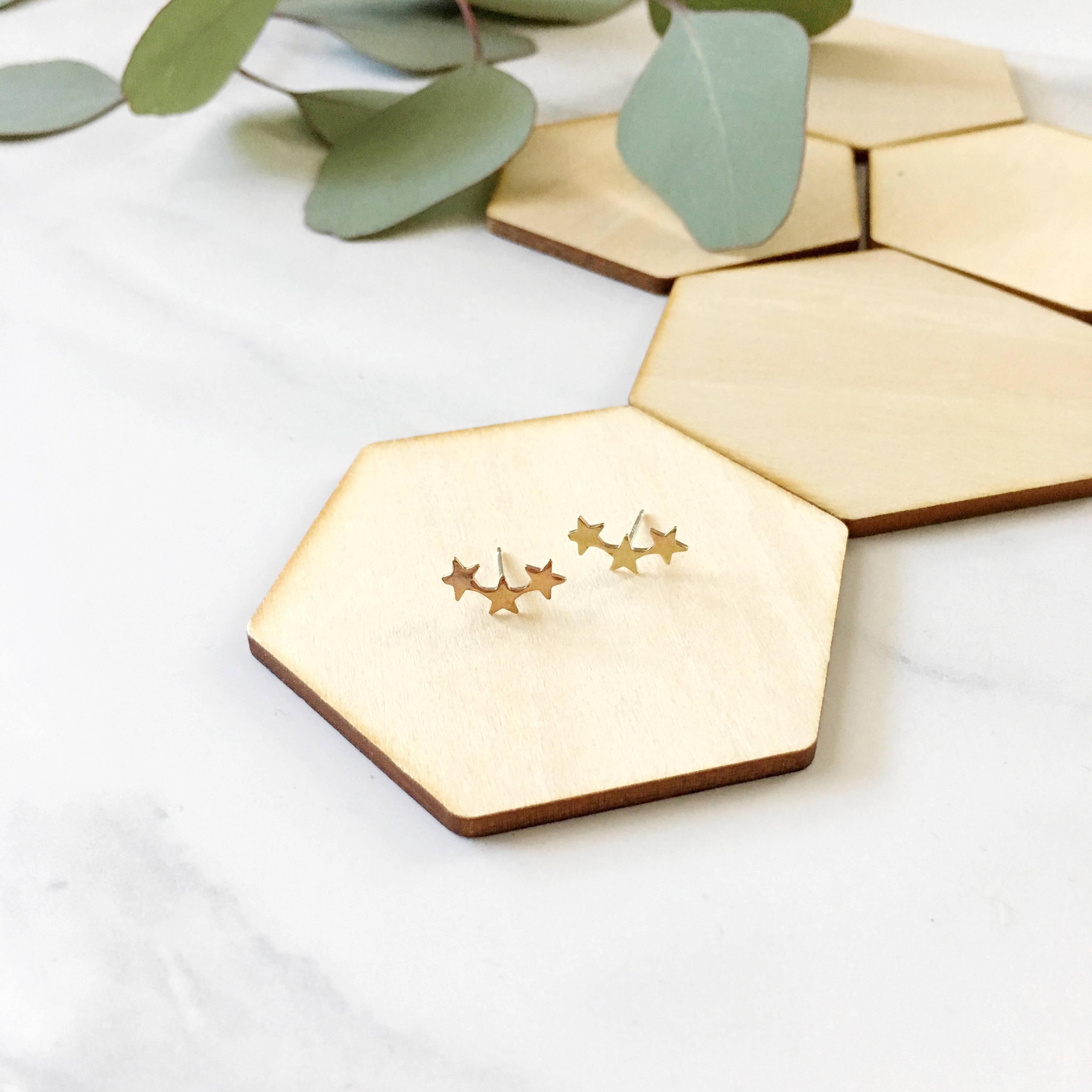 10fcc2413d829 Star Climber Earrings, studs, posts, stars, planets, celestial, sky,  zodiac, jewelry under 20, gift, constellation, astrology, gold