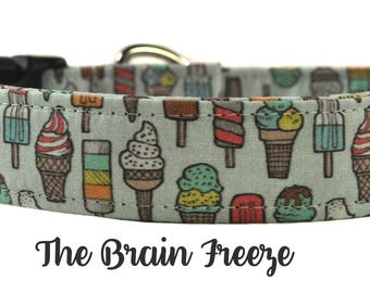 Ice Cream Cone Dog Collar - The Brain Freeze