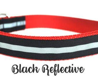 Black Reflective Dog Collar