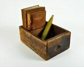 Vintage Industrial Wood Bin Drawer