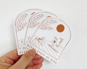 Ocean State of Mind Sticker // Free Shipping