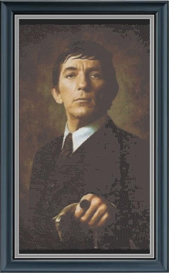 Dark Shadows Barnabas Collins Portrait Cross Stitch Pdf Etsy