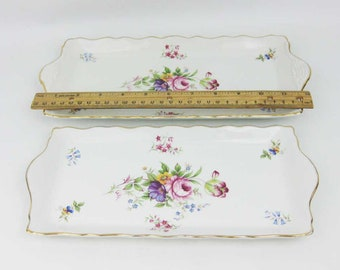 Pink flowers Regal 10 Selection of Vintage Old Foley James Kent sandwich plates trays Yellow rose Sold seperately