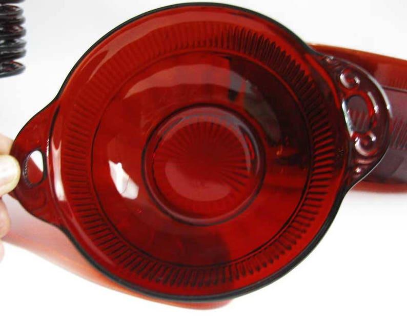 Depression Anchor Hocking Coronation Royal Ruby Red Bowls Set 9 PCS Circa 1936