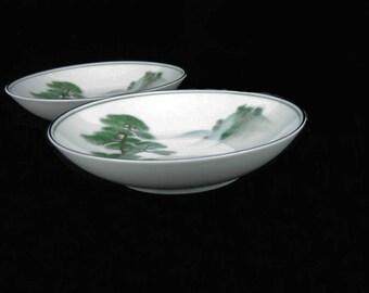 Noritake Ming Tree Fruit Bowls/Dessert Bowls (2) Circa 1953 Pattern #5696