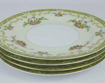 Vintage Noritake Arlene Salad Plates (4) Circa 1930's