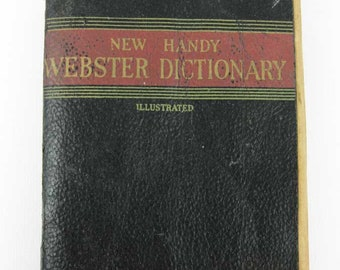 Vintage New Handy Webster Dictionary Illustrated Circa 1959 English