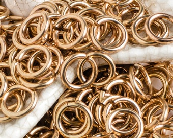 1// 2 OZ RED BRASS JUMP RING 16 GA WIRE 9 MM O//D 60 P SAW CUT
