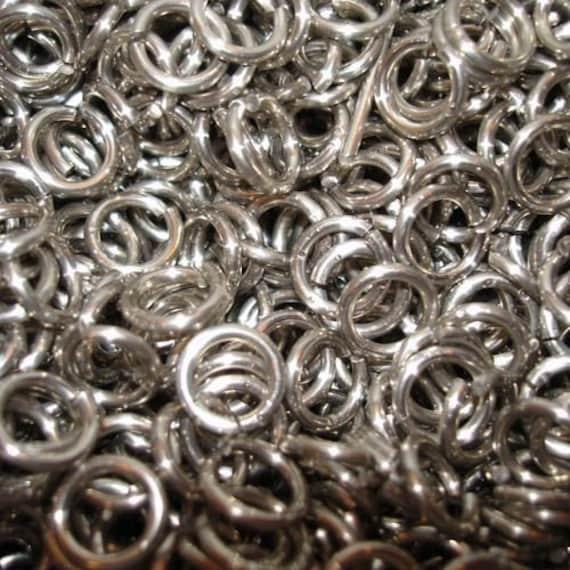 1//4 18g Bronze JUMP RINGS 1 oz SAW CUT Chainmail chain mail