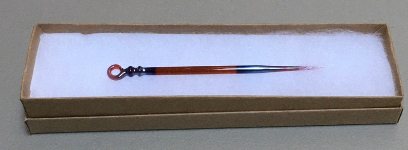 Handmade Glass Standard Laying Tool Triple Passion Colorway