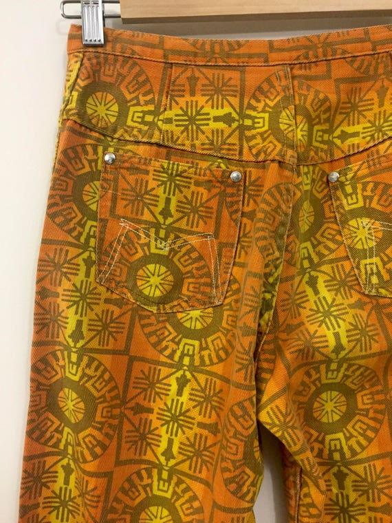 Rare Vintage 1960s 70s Maverick Jeans Pants Triba… - image 5