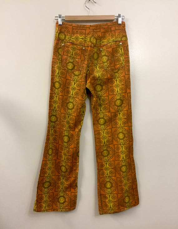 Rare Vintage 1960s 70s Maverick Jeans Pants Triba… - image 4