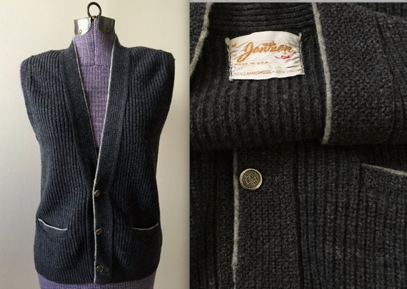 Vintage 1960s Jantzen Sweater Vest - Medium