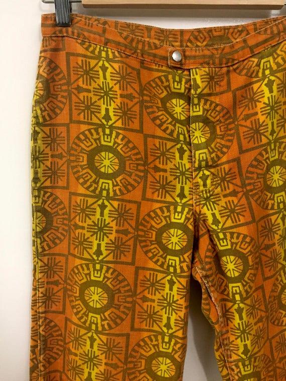 Rare Vintage 1960s 70s Maverick Jeans Pants Triba… - image 3