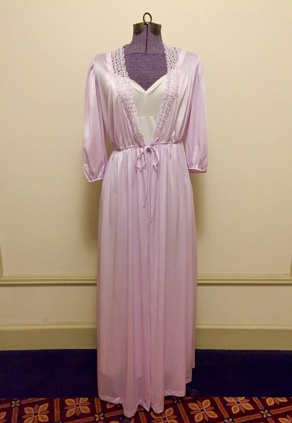 Vintage 1970s Val Mode Nylon Princess Dressing Gow
