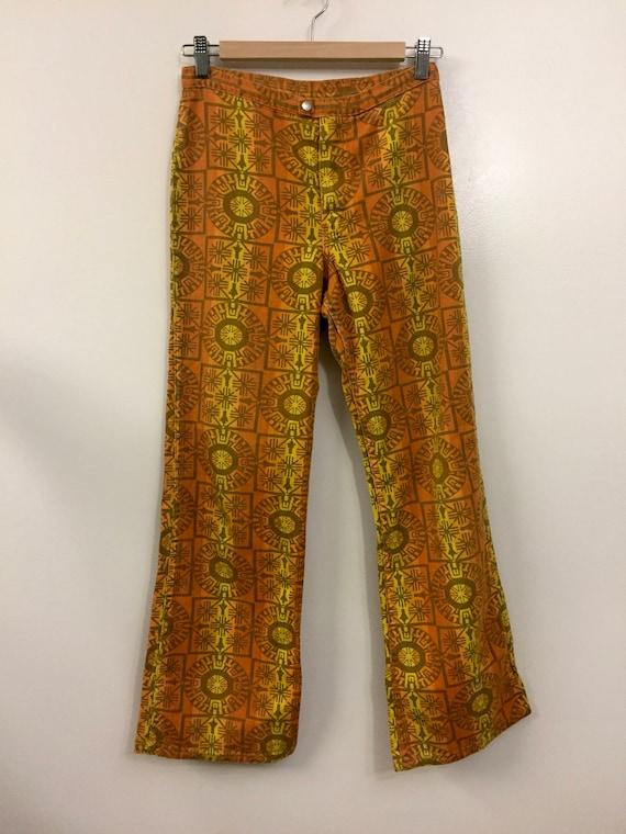 Rare Vintage 1960s 70s Maverick Jeans Pants Triba… - image 2
