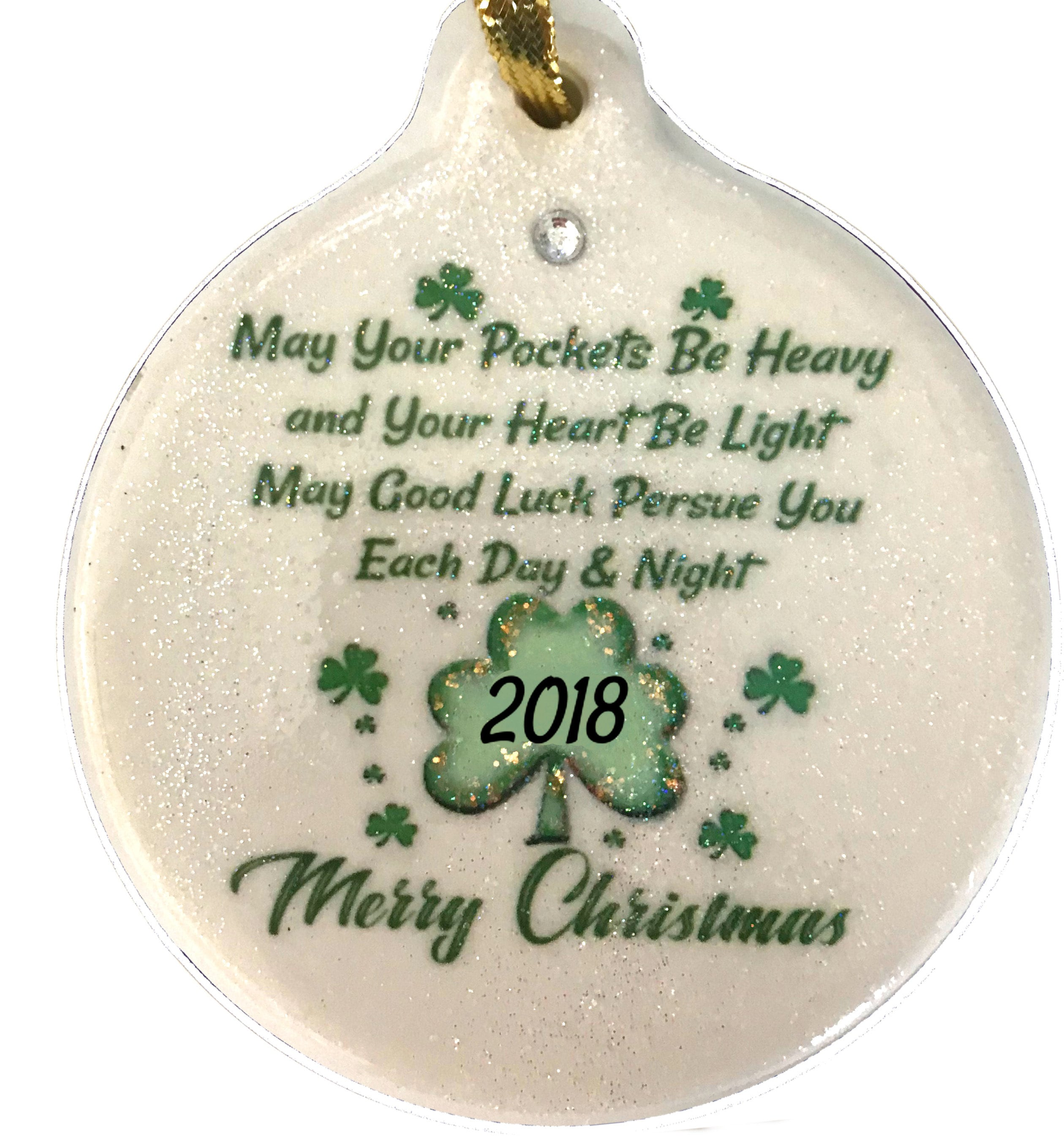 Irish Christmas 2018 Blessing Porcelain Ornament Rhinestone | Etsy