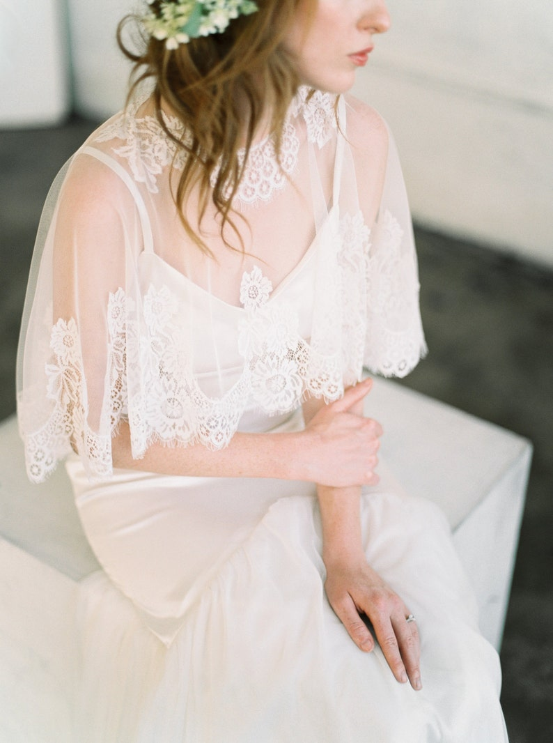 Bridal Cape Bridal Capelet Bridal Cover Up Bridal image 0