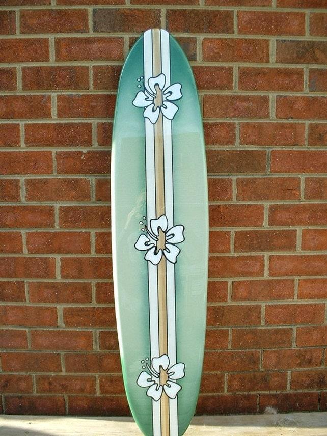 Surfboard wall art surfboard wall hanging four foot beach | Etsy